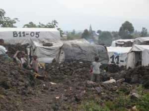 Mugunga Refugee Camp after attack.